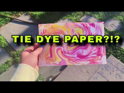 TIE DYE PAPER! || EASY DIY to do at HOME