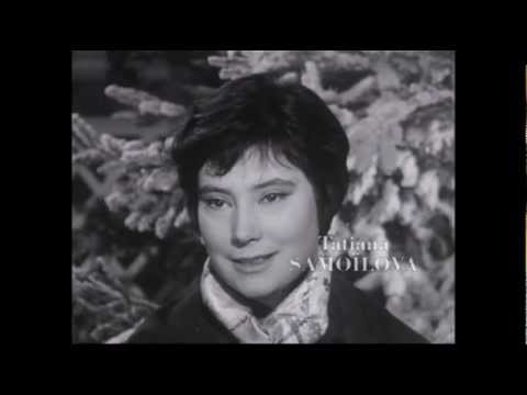 Tatiana Samoilova - Interview (1961)