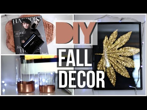 DIY FALL TUMBLR ROOM DECOR 2017! Easy tumblr decor ideas!