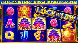 NEW Super Lock Jackpot Slot Machine Max Bet Bonus | SEASON 5 | EPISODE #21