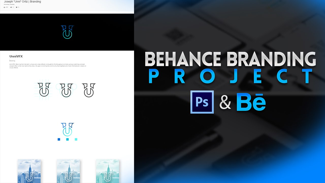 8e804797b46 Tutorial  Behance Branding Project (Photoshop CC Behance.net) - Behr -  YouTube