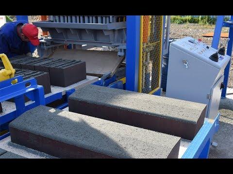 Оборудование для производства бордюрного камня методом вибропрессования