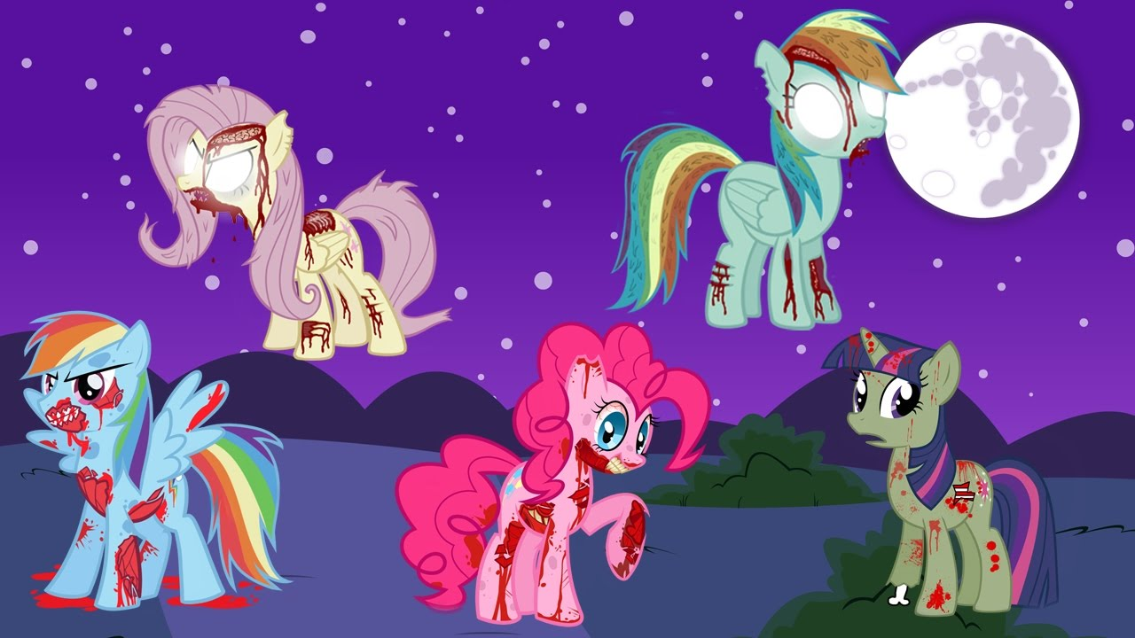 My Little Pony Transfomrs Into Zombies Forms Mlp Coloring