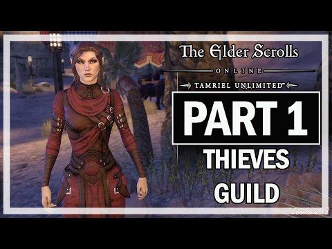 The Elder Scrolls Online Walkthrough Part 1 Thieves Guild - Let's Play Gameplay