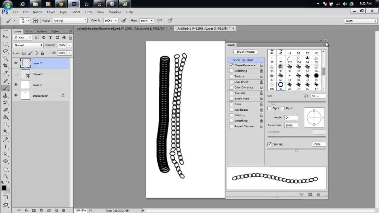 Tutorial IMVU - Photoshop Chain Brushes Tutorial