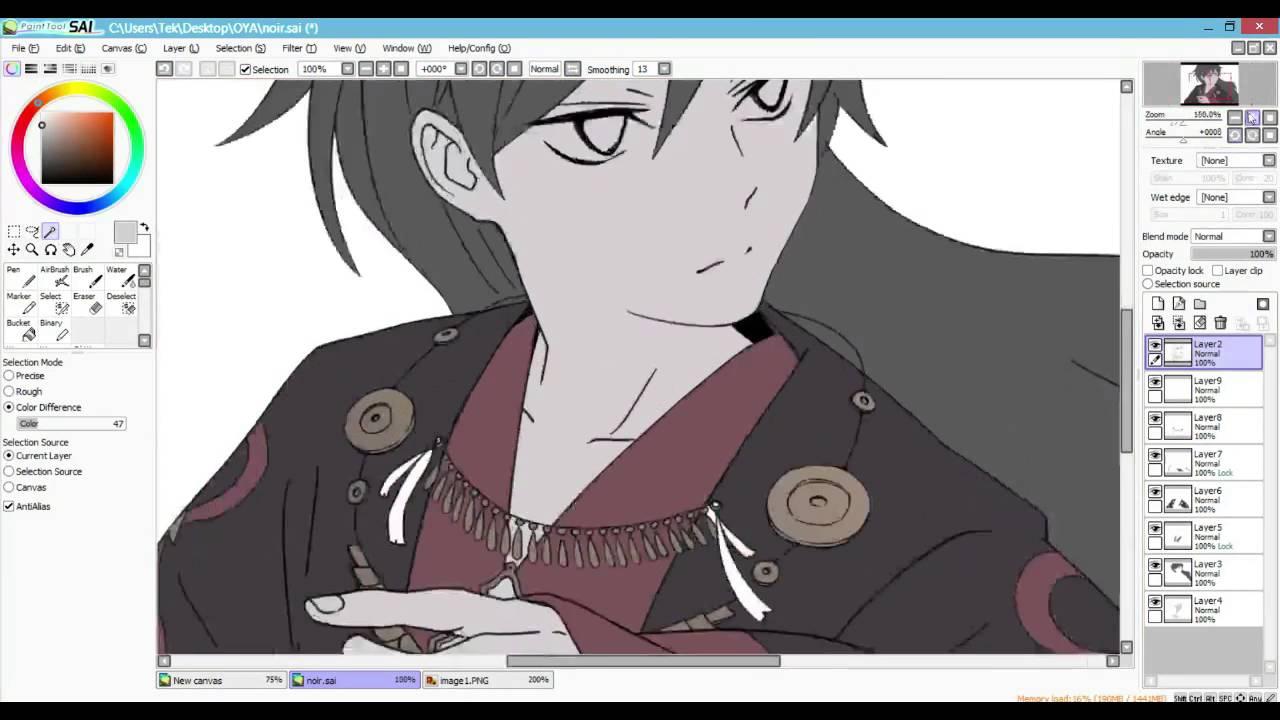 Fake Anime Screenshot Speedpaint On Sai