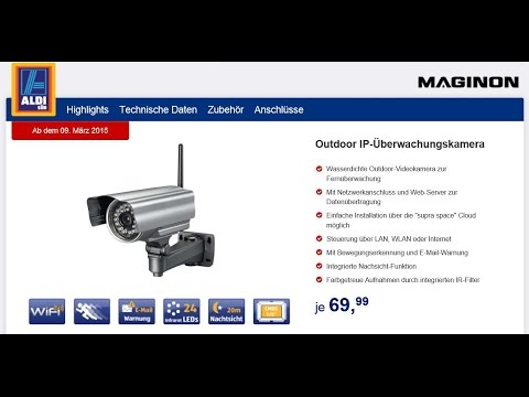 UNBOXING - MAGINON® VISION Outdoor IP-Überwachungskamera IPC-20 C