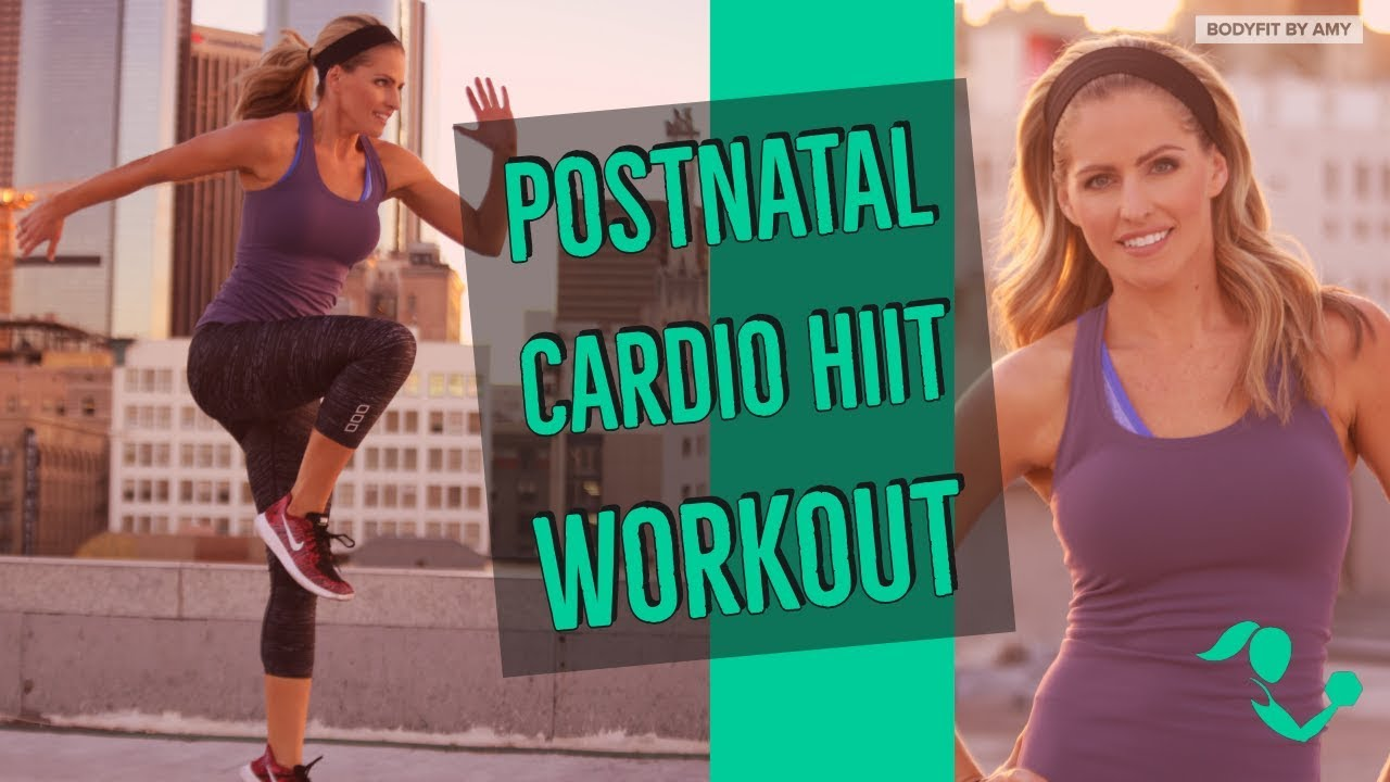 30 Minute Postnatal Cardio Hiit 2 Workout For After Pregnancy Youtube