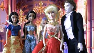 Золушка Бал, Мультфильмы Куклами Принцессы Disney, Белоснежка, Рапунцель Мультики для девочек