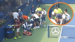 Novak Djokovic Meets Rafael Nadal on Practice - Us Open 2019 (HD)