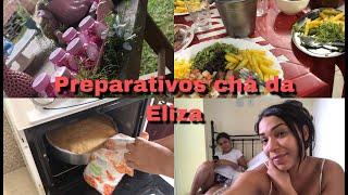 Vlog -Chá de fralda da Eliza - Preparando +comendo fora dia 1