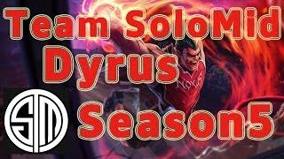 TSM Dyrus Darius TOP vs Garen in Korea Patch 5.16