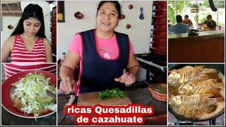 Preparamos Quesadillas de hongos 🍄 de cazahuate+Si cumplió y les dio de almorzar🤣