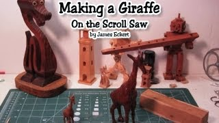 In this video I make my 3d/compound scrolling plan for a Giraffe. This is a quick(depending on the wood) fun scroll saw project.