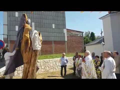 Inauguran unha escultura xunto á capela da Guadalupe, en Sancovade