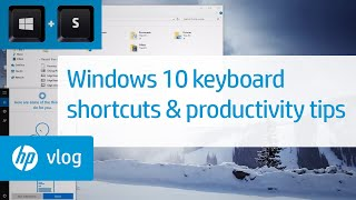 Windows 10 Keyboard Shortcuts and Productivity Tips: HP How To For You