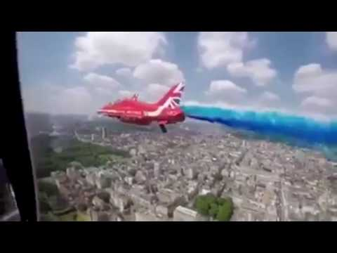 Watch Buckingham Palace Flypast From Red Arrows Cockpit! Trooping The Colour 2017