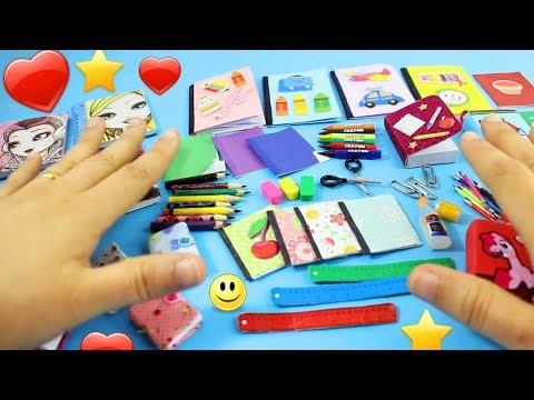 DIY 100% Real Miniature School Supplies - [REALLY WORKS] - simplekidscrafts