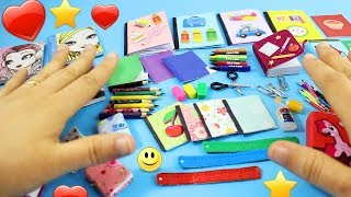 DIY 100% Real Miniature School Supplies - Pencils,Crayons,Notebooks,Scissors,Erasers- [REALLY WORKS]