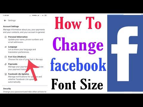 How To Change Facebook Font Size ? | Change Facebook Font Size