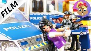 Playmobil Film Nederlands - BOZE LERARES OPGEPAKT - Politie Pakt Vluchtige - Familie Vogel