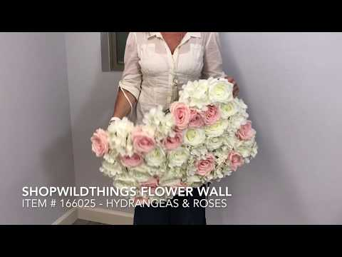 ShopWildThings Flower Walls Pink And Cream Roses