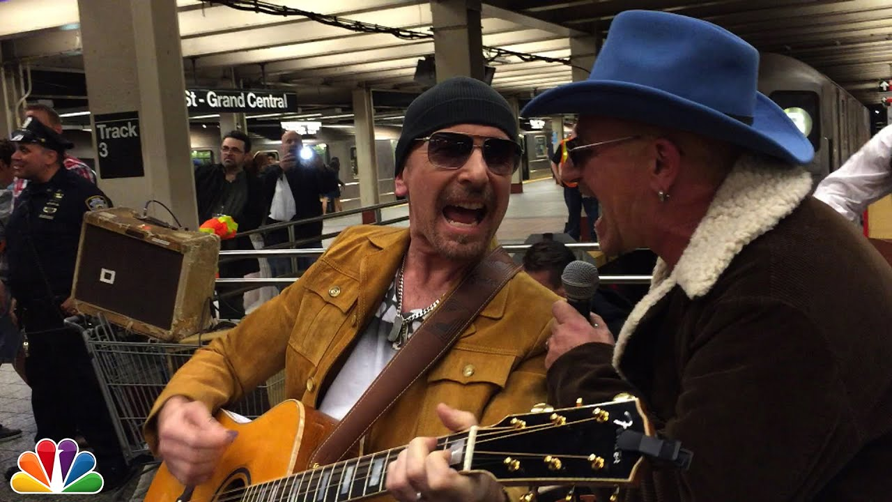 画像: U2 Busks in NYC Subway in Disguise youtu.be