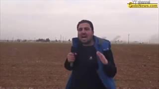Военкор боевиков снимает авиаудары ВКС РФ