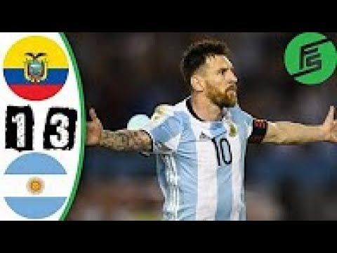 Ecuador vs Argentina 1-3  Extended Match Highlights - World Cup Qualifiers 11 October  2017 HD