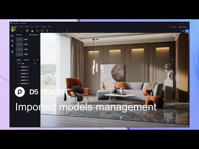 D5 Render 1.6 | Imported Models Management