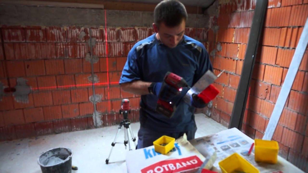 Электрика до штукатурки или после? Технология установки подрозетников по маякам.