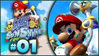 Super Mario Sunshine 100% Walkthrough   ALL Bianco Hills Shine Sprites! [Episode 1 🔴LIVE]