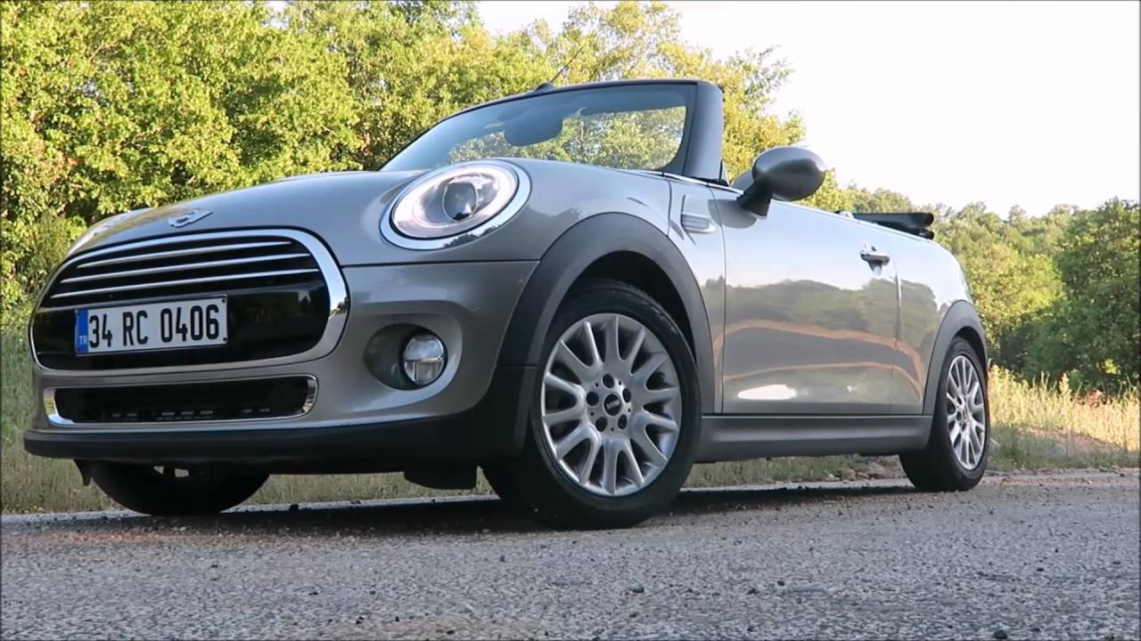 F57 Mini Cooper Convertible >> 2016 MINI Cooper Cabrio test sürüşü - YouTube