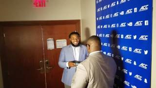 TigerNet.com - Christian Wilkins and Tyrone Crowder play speak out game