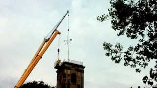 Dockyard Church Weathervane (a Familiar Landmark In Sheerness) Being Removed