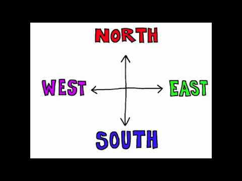 north south east and west rockin english directions song youtube