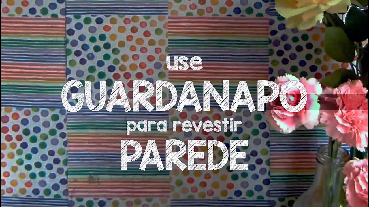 Diy use guardanapo na parede papel de parede mais - Papel para revestir paredes ...