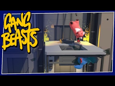 Gang Beasts - #138 - ELEVATOR BREAKDOWN!!!