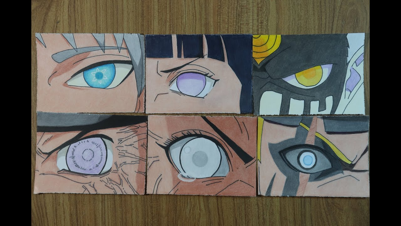 Drawing All Byakugan Forms Evolution Of Byakugan Tenseigan Golden Byakugan Jougan Youtube