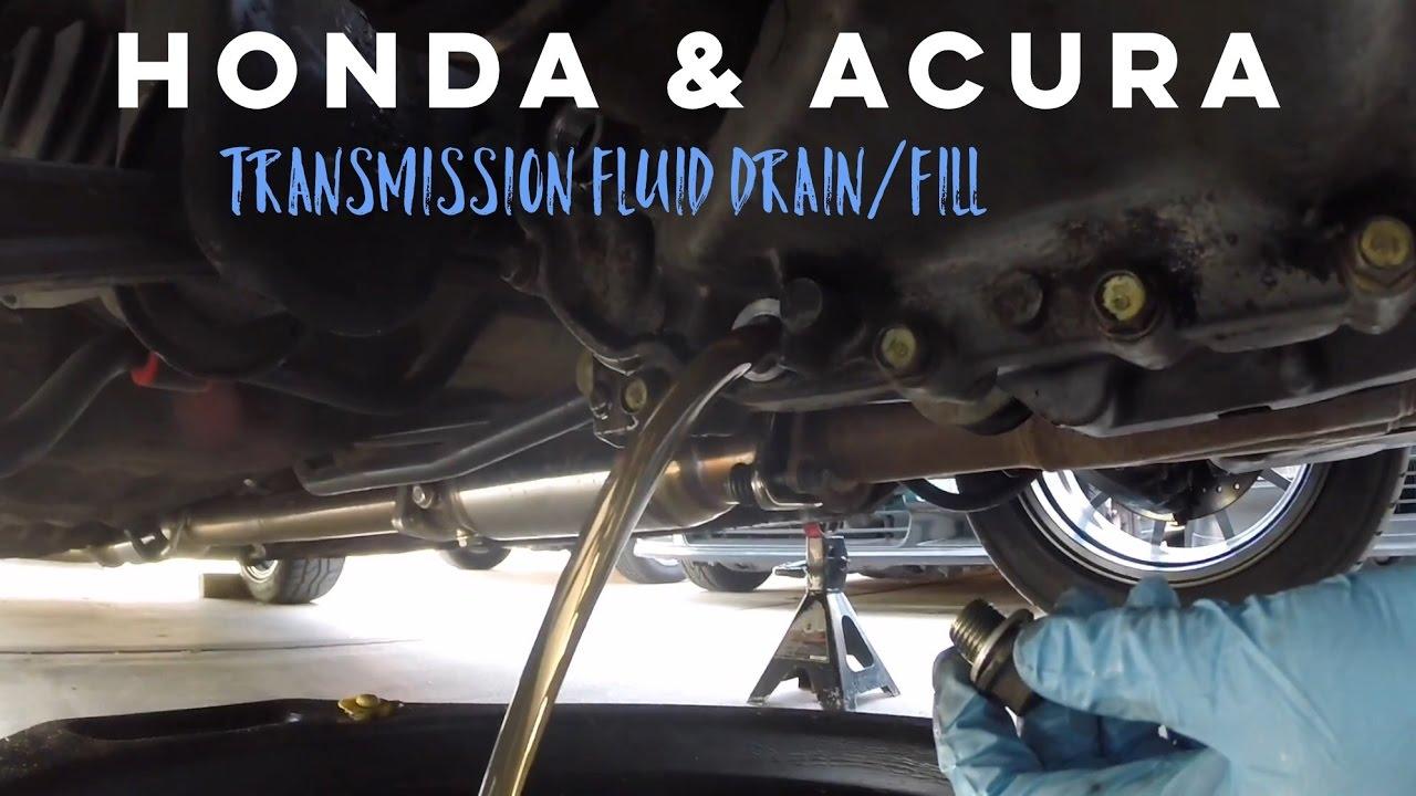 How to Change Transmission Fluid on Honda Acura  YouTube