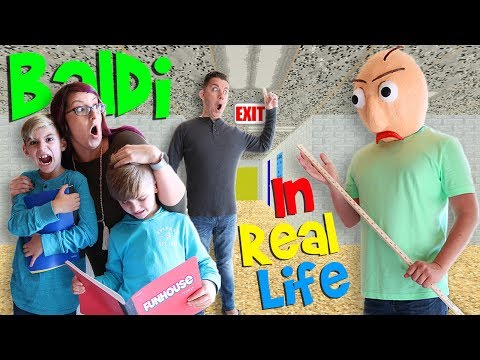 Baldi's Basics Game IN REAL LIFE! (FUNhouse Family)
