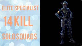 Elite Specialist 14 Kill Solo Squads [Fortnite BR Full Match]