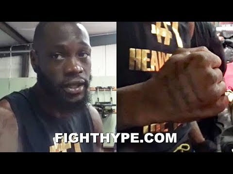"DEONTAY WILDER EXPLAINS ORIGIN OF HIS POWER; CREDITS DAD'S WORK ETHIC: ""ALL MY LIFE, I WAS A WORKER"""