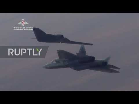 Russia: Okhotnik combat drone conducts joint flight with Su-57