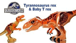 Jurassic World Tyrannosaurus Rex & Baby T-rex LEGO KnockOff Big Figures