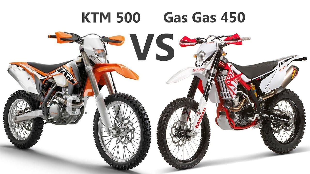 KTM 500 exc VS Gas Gas EC 450 F - YouTube