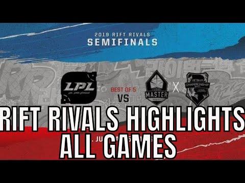 Rift Rivals Semifinal Highlights ALL GAMES Bo5 LPL vs LMS+VCS Rift Rivals 2019