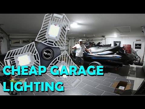 Cheap Garage Lighting Ideas. Chinese LED Array (Skill Level = 1 Beer)