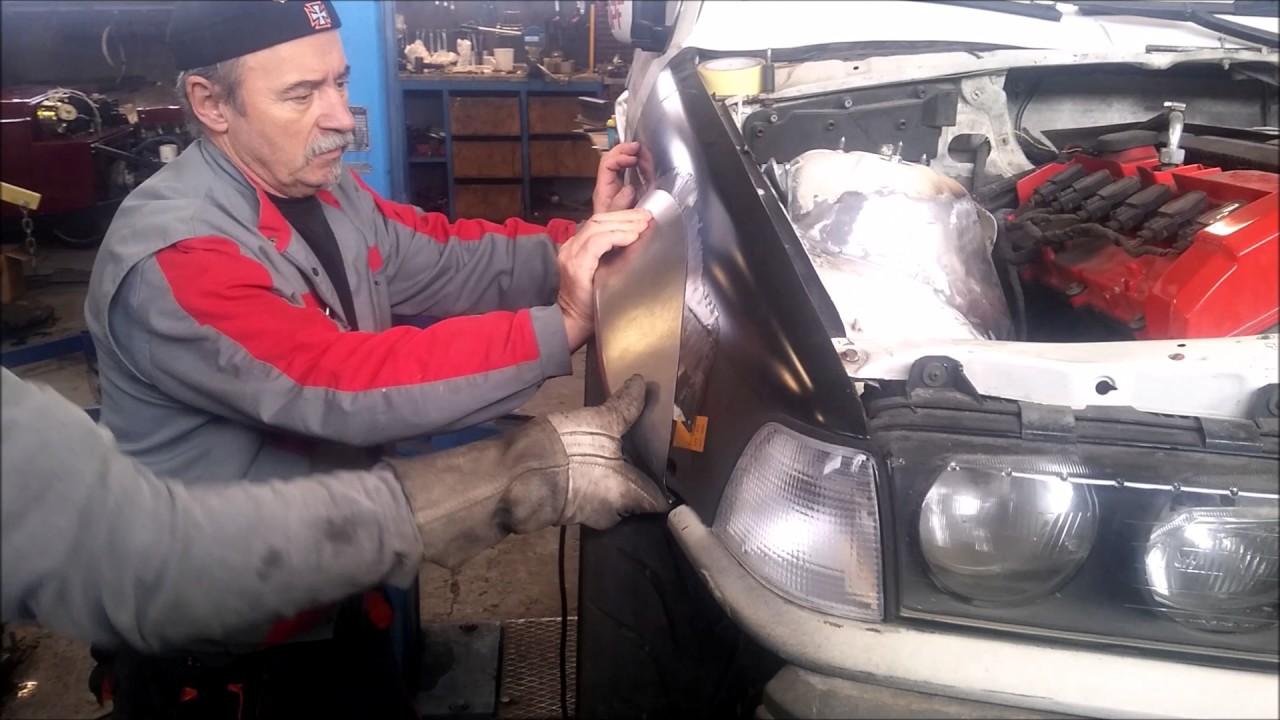 BMW wide body, fender flares, metal work