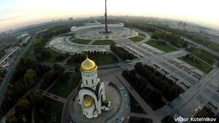 видео: Храм Георгия Победоносца в парке Победы